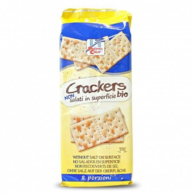 Crackers bio (fara sare la suprafata), La Finestra sul Cielo, 250 g
