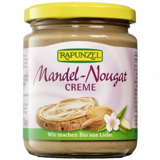 Crema bio cu migdale si nougat, Rapunzel, 250 g