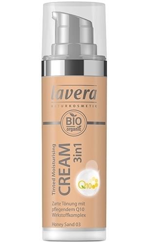 Crema nuantatoare 3-in-1 cu coenzima Q10 - Honey Sand 03, Lavera, 30ml