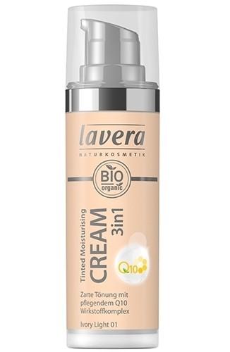 Crema nuantatoare 3-in-1 cu coenzima Q10 - Ivory Light 01, Lavera, 30 ml