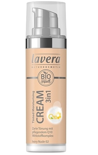Crema nuantatoare 3-in-1 cu coenzima Q10 - Ivory Nude 02, Lavera, 30 ml