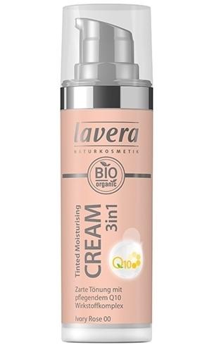 Crema nuantatoare 3-in-1 cu coenzima Q10 - Ivory Rose 00, Lavera, 30 ml