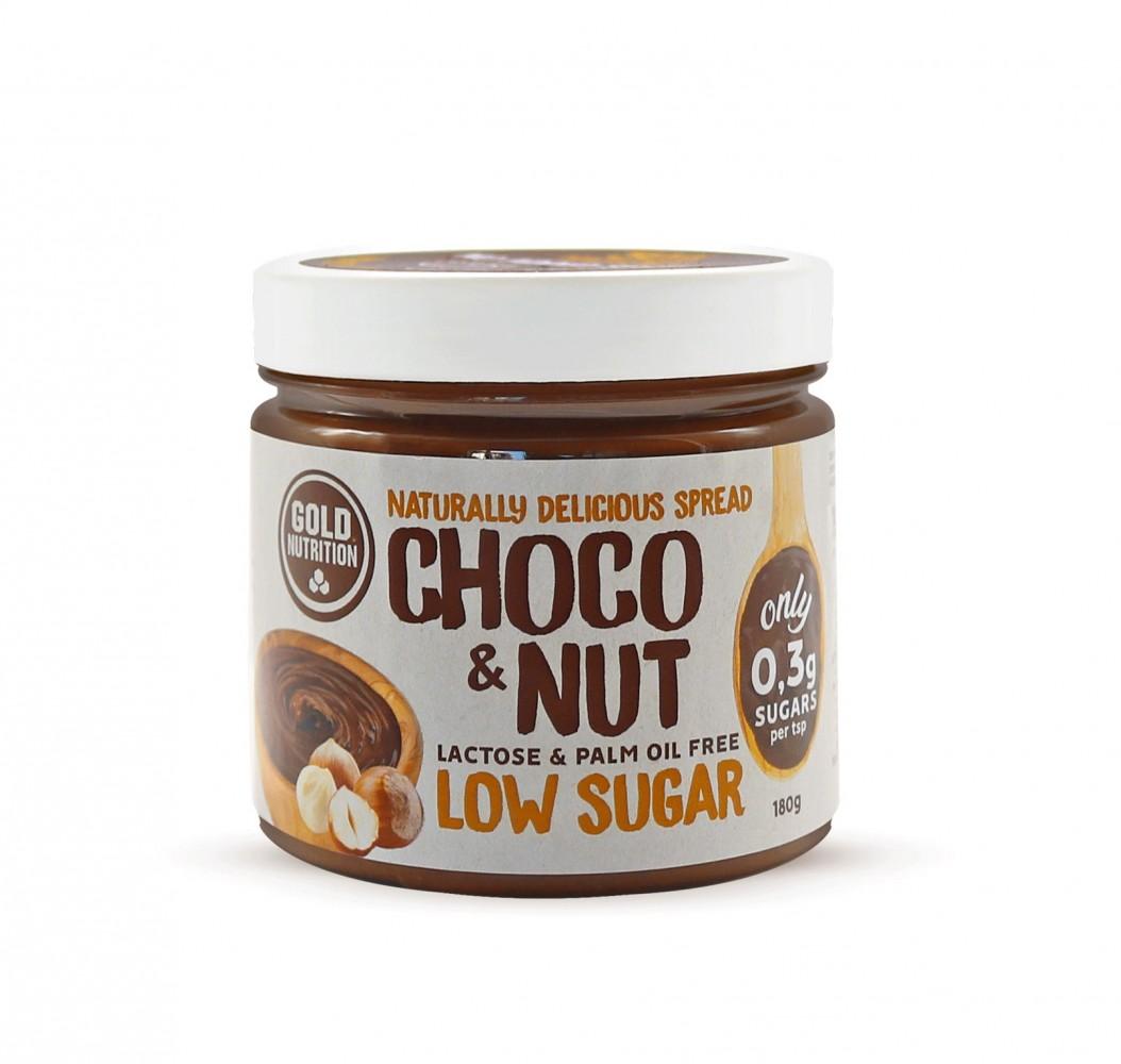 Crema Tartinabila, Choco&Nut Low Sugar, 180 g Gold Nutrition