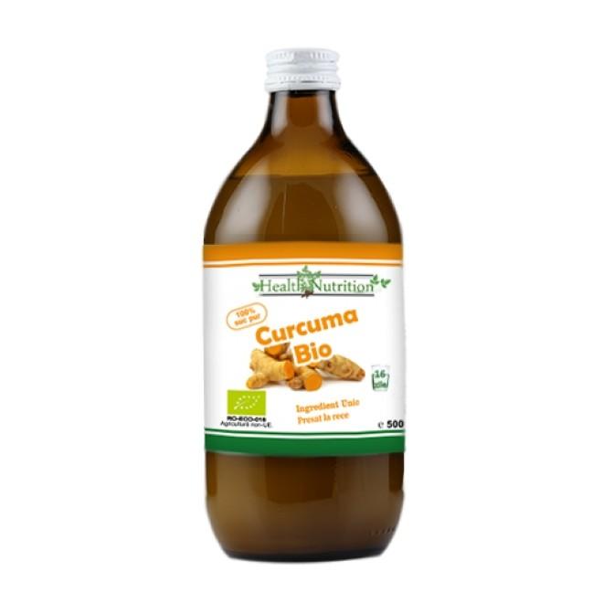 Curcuma (turmeric), suc bio 100%, presat la rece, Health Nutrition, 500ml