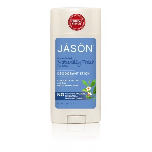 Deodorant natural stick Jason Fresh - fara miros pentru barbati, 71g