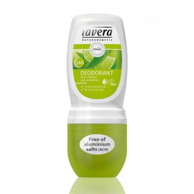 Deodorant roll-on bio Lime si Verbina, Lavera, 50 ml