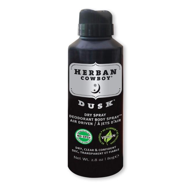 Deodorant spray pt barbati Dusk, cu extract de rozmarin si salvie, Herban Cowboy, 80 g
