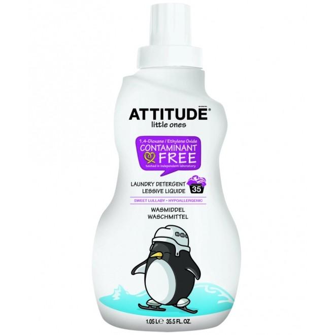 Detergent lichid de rufe, Attitude, fara miros, pt. bebelusi, 35 de spalari, 1,05 L