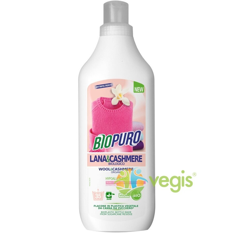 Detergent Lichid pentru Hainele de Lana si Casmir Ecologic/Bio 1000ml