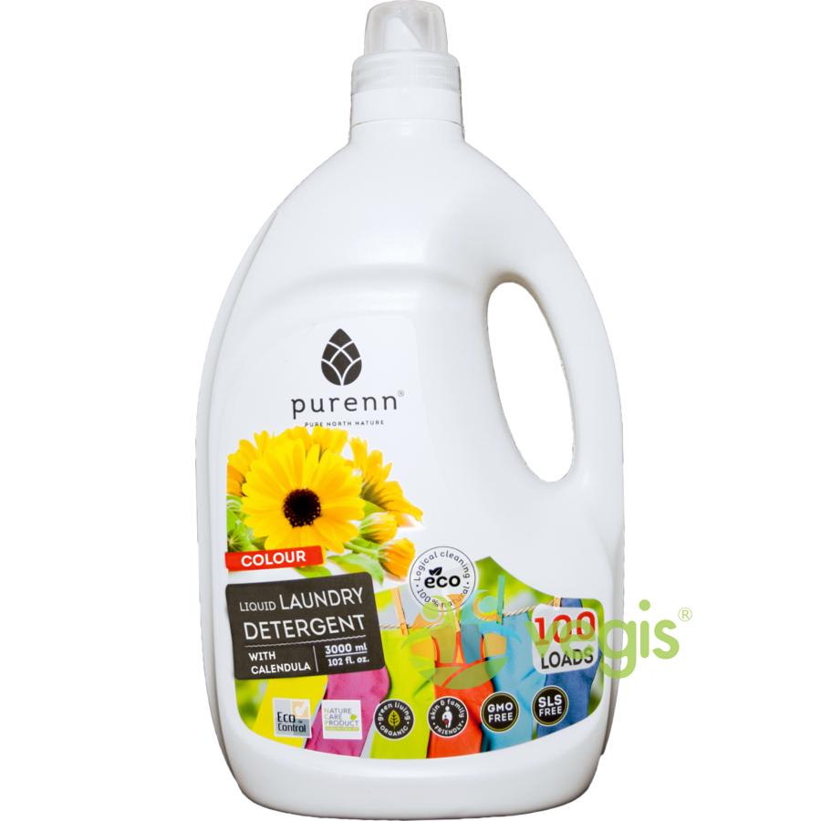 Detergent Lichid pentru Rufe Colorate cu Galbenele Eco/Bio 3L