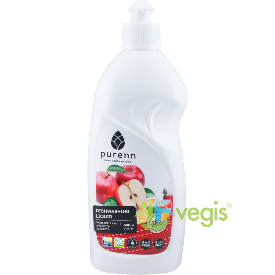 Detergent Lichid pentru Vase cu Mar si Ceai Verde Eco/Bio 500ml