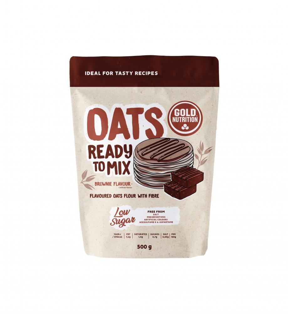 Faina de Ovaz, Oats Ready To Mix Brownie,  500 g Gold Nutrition