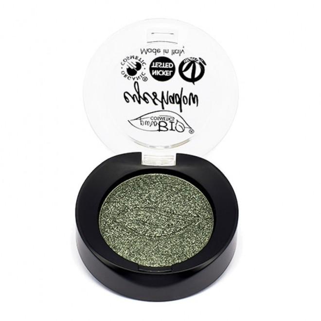 Fard de pleoape sidefat Verde nr. 22, Purobio Cosmetics