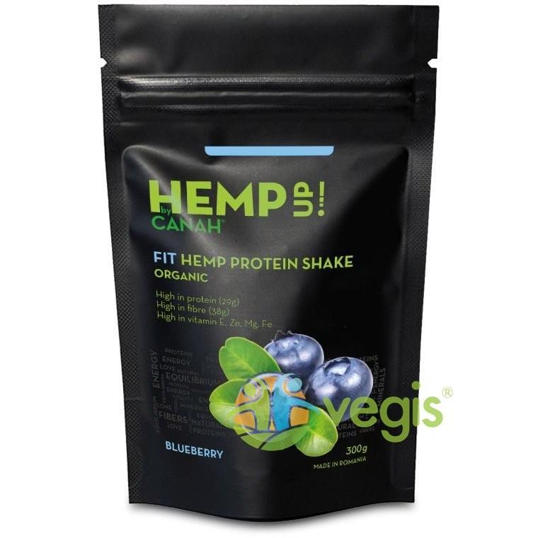 FIT Shake Proteic de Canepa si Afine Hemp Up Ecologic/Bio 300g