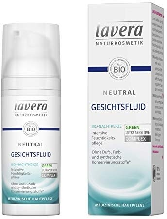 Fluid facial Neutral pentru tenul alergic, foarte sensibil si iritat, Lavera, 65 g