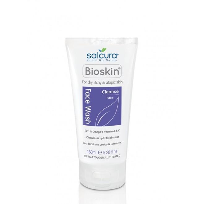 Gel de curatare a fetei Bioskin, pt piele uscata, atopica, cu mancarimi, Salcura, 150 ml