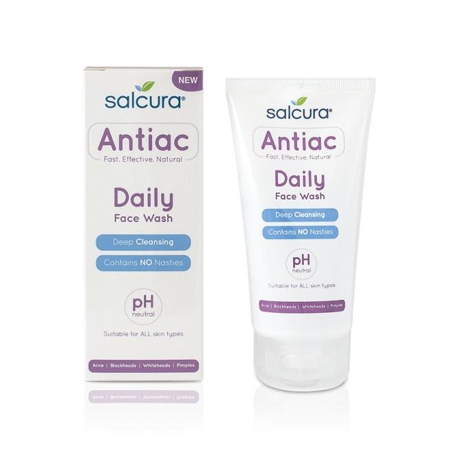 Gel de curatare Antiac pt. tenul cu acnee, cosuri, puncte albe sau negre, toate tipurile de ten, Salcura, 150 ml