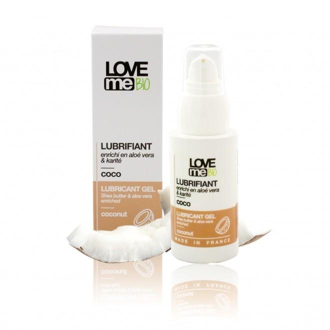 Gel lubrifiant intim, Love Me Bio, cu aroma de cocos, 50 ml