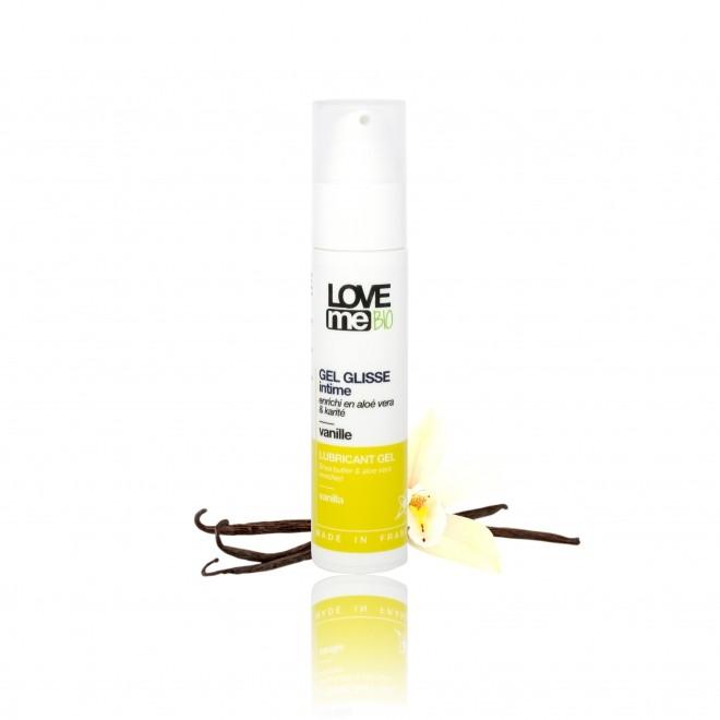 Gel lubrifiant intim, Love Me Bio, cu aroma de vanilie, 50 ml