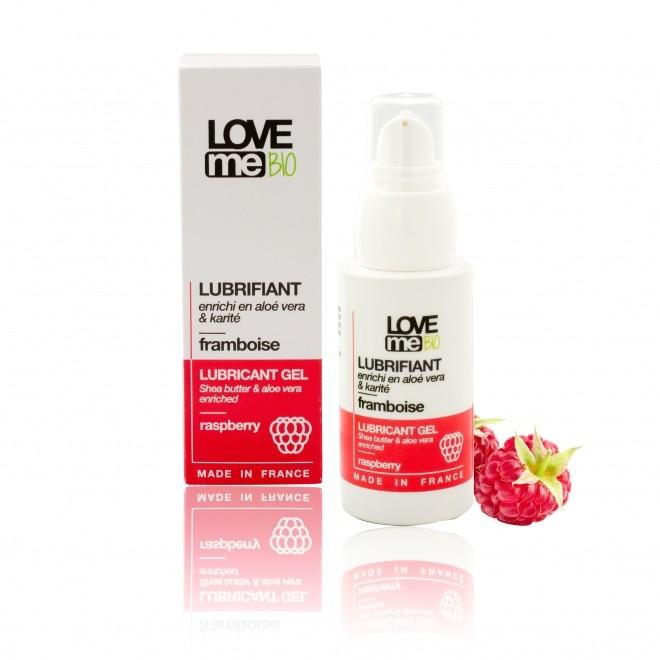 Gel lubrifiant intim, Love Me Bio, cu aroma de zmeura, 50 ml