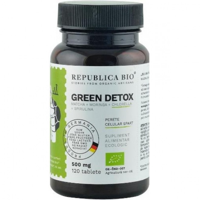 Green Detox, Republica Bio, 120 tablete