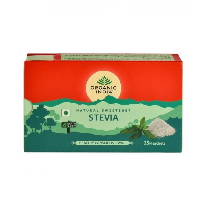 Indulcitor natural Stevie, hipocaloric, Organic India, 25 plicuri