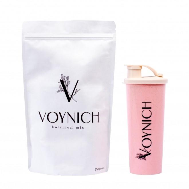 Inlocuitor de masa (instant meal) bogat in super-alimente + shaker roz CADOU, Voynich