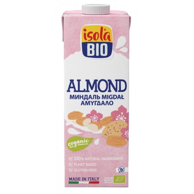 Lapte vegetal bio de migdale, fara gluten, fara lactoza, Isola Bio, 1 L