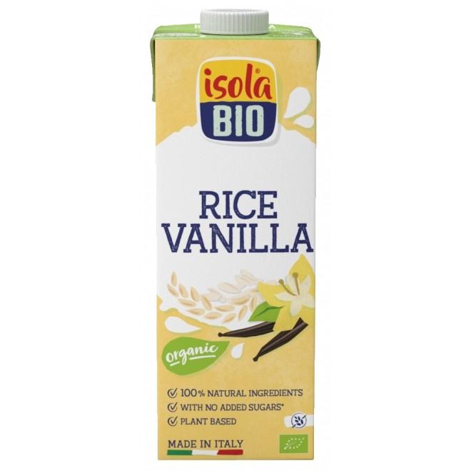 Lapte vegetal bio din orez cu vanilie, fara gluten, Isola Bio, 1 L
