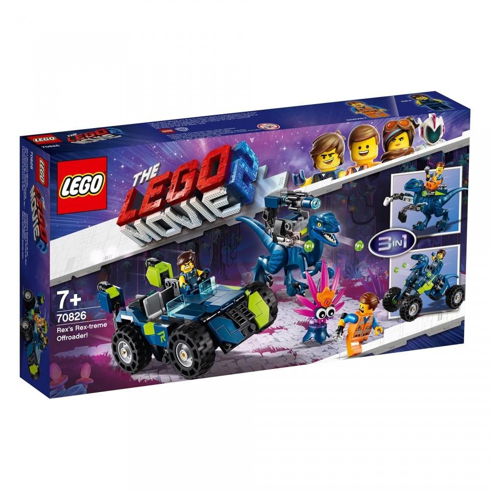 LEGO Movie 2, Masina de teren rextrema a lui Rex, 70826, 7+ ani