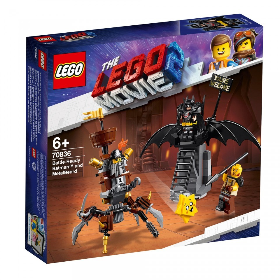 Lego Movie, Batman & Barba metalica 70836, 6+ ani
