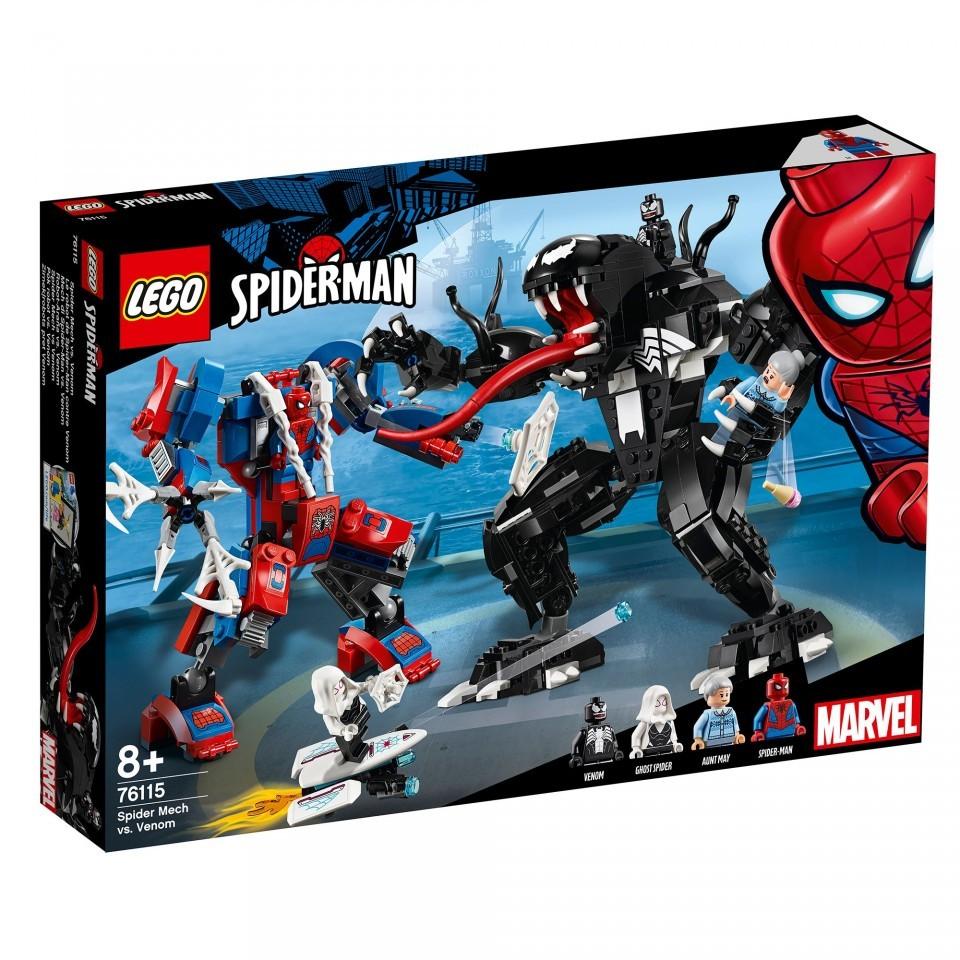 Lego Super Heroes, Robotul paianjen contra Venom, 76115, 8+ ani