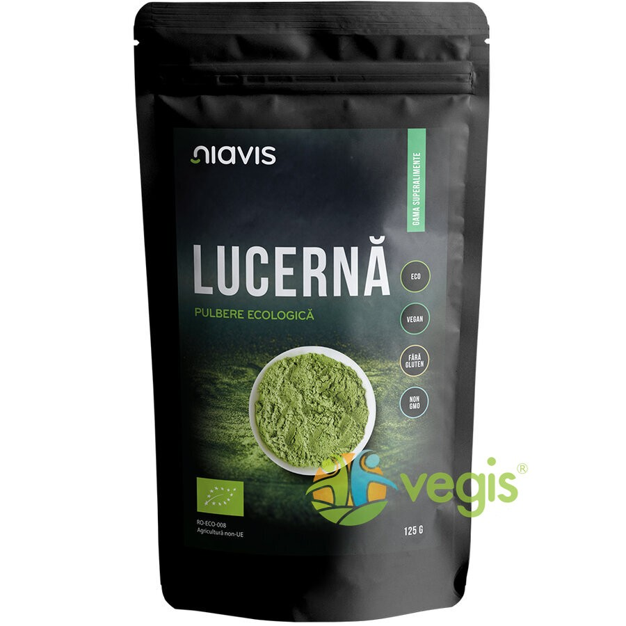 Lucerna (Alfalfa) Pulbere Ecologica/Bio 125g
