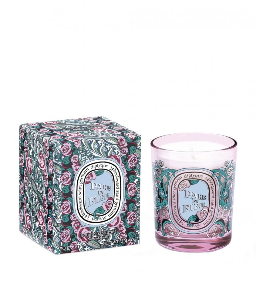 Lumanare parfumata Diptyque Bougie Paris En Fleurs Editie Limitata