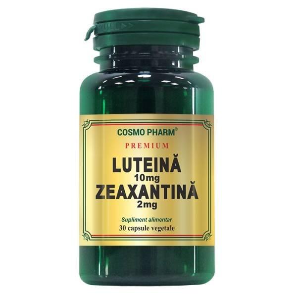 Luteina 10mg, Zeaxantina 2mg, 30 cps