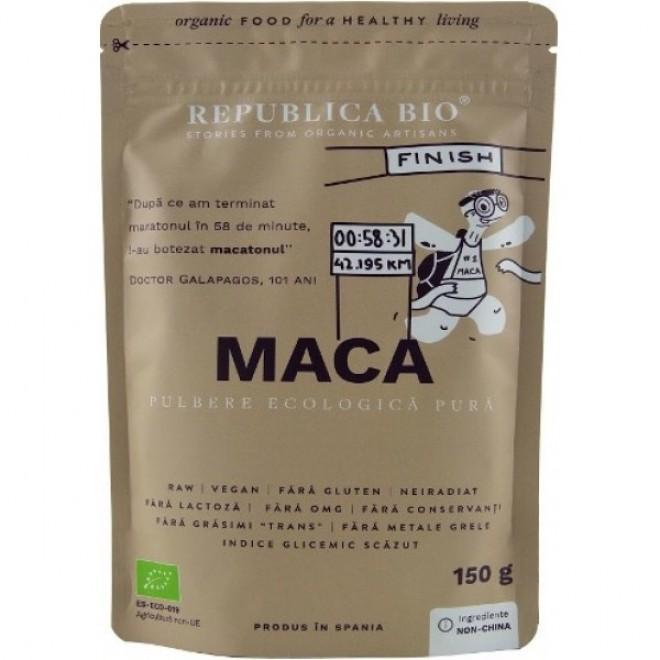 Maca pulbere pura bio, Republica Bio, 150 g