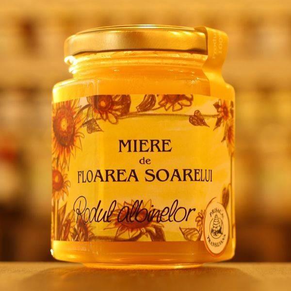 Miere de Floarea Soarelui Prisaca Transilvania - 250 g