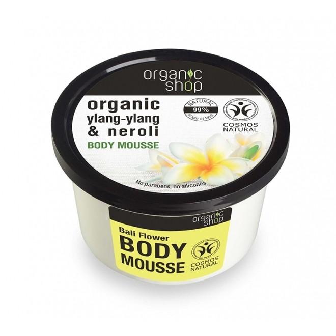 Mousse pentru corp, Bali Flower, Organic Shop, 250 ml