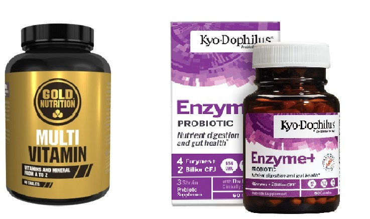 Multivitamine, 60cps + Enzime Digestive, Kyo Dophilus, 60cps