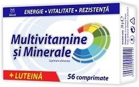 Multivitamine, Minerale, Luteina, 56 cpr