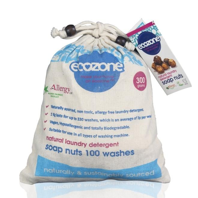 Nuci de sapun bio, 100 de spalari, Ecozone, 300 g