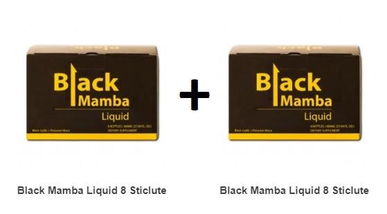 Pachet 2X Black Mamba Liquid 8 Sticlute