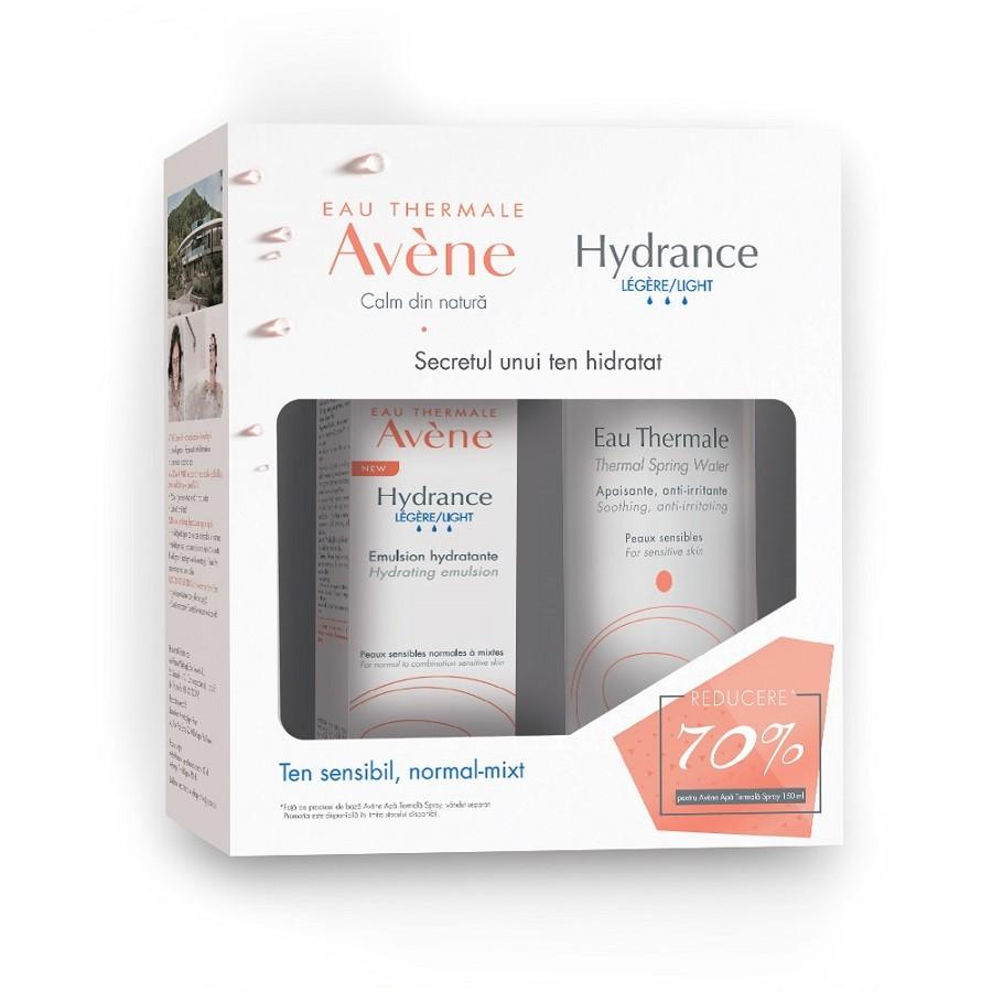 Pachet Emulsie pentru piele sensibilă Avene Hydrance Legere 40 ml + Apă termală spray Avene 150 ml