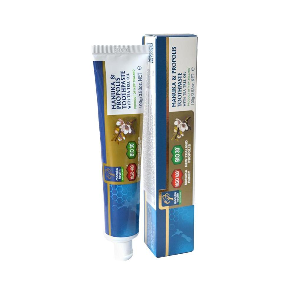 Pastă de dinți cu Manuka MGO 400+, Propolis BIO30™ și ulei de arbore de ceai