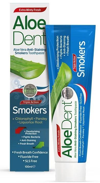 Pasta de Dinti fara Fluor pentru Fumatori cu Aloe Vera, Clorofila si Lemn Dulce, 100 ML