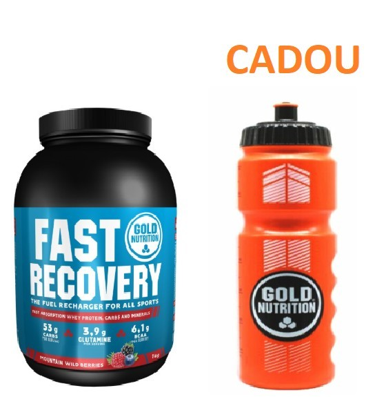 Proteine, Fast Recovery, Fructe de Padure, 1Kg + Recipient Sport, Pentru Apa, 800 ML CADOU
