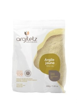 Pudra de argila galbena, ultra-ventilata, pt ten mixt, Argiletz, 200g