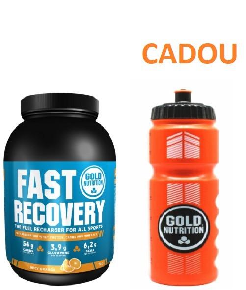 Pudra Proteica, Fast Recovery, Portocale, 1Kg + Recipient Sport, Pentru Apa, 800 ML CADOU