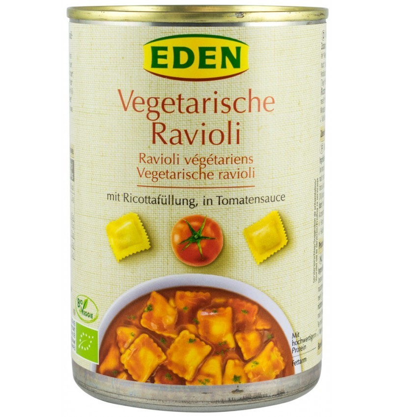 Ravioli Bio in Sos de Rosii Eden - 400 g