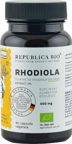 Rhodiola bio extract 3%, Republica Bio, 60 capsule